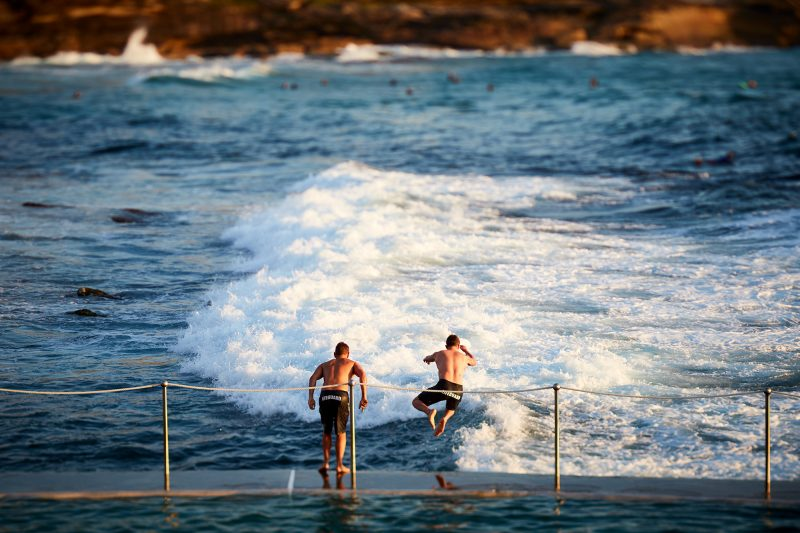 Bronte Pool, Lifeguards leap!