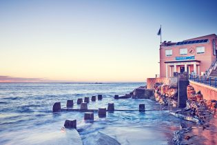 Coogee baths, sunrise this morning