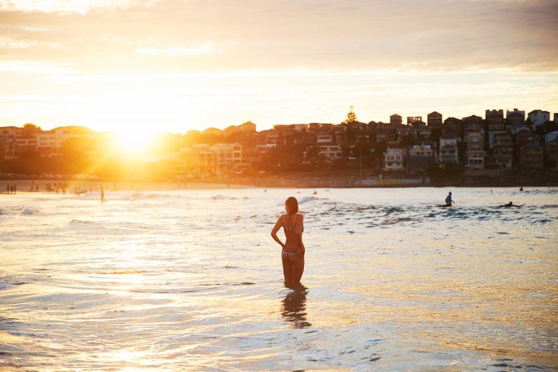 Autumn golden light, Bondi Beach this morning