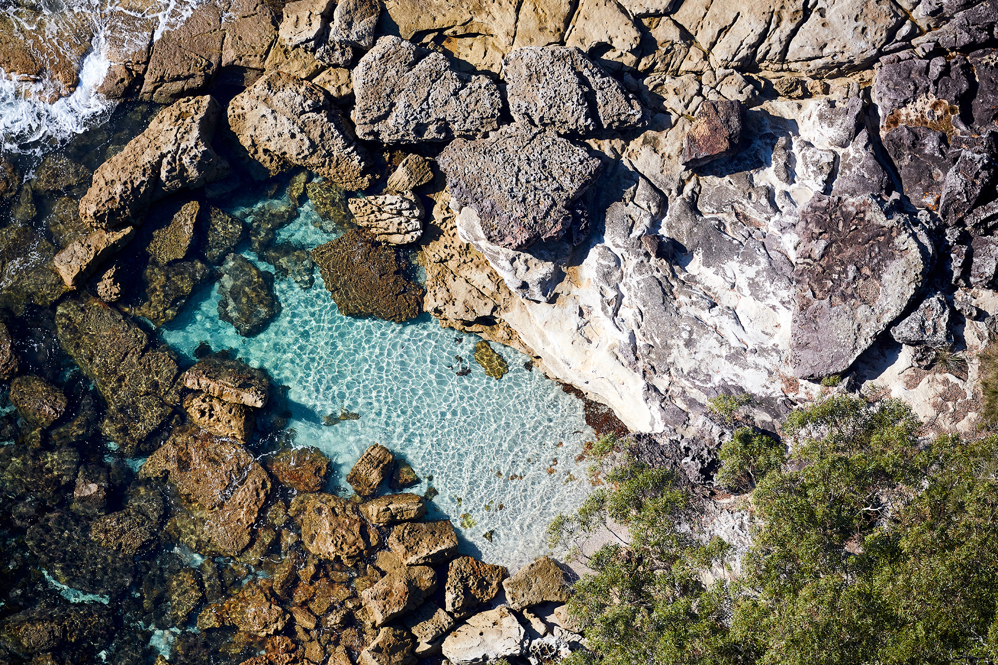 My kids would go nuts in that rock pool, Jervis Bay
