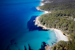 Yes, this place exists. Jervis Bay 3 hours south of Sydney