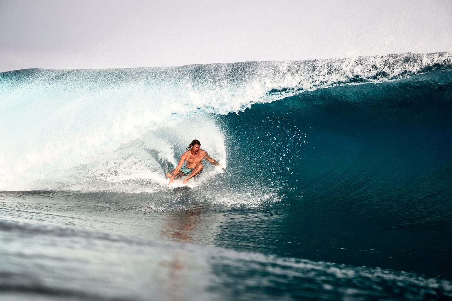 Sitting in the pocket. He was shredded on the reef straight after this