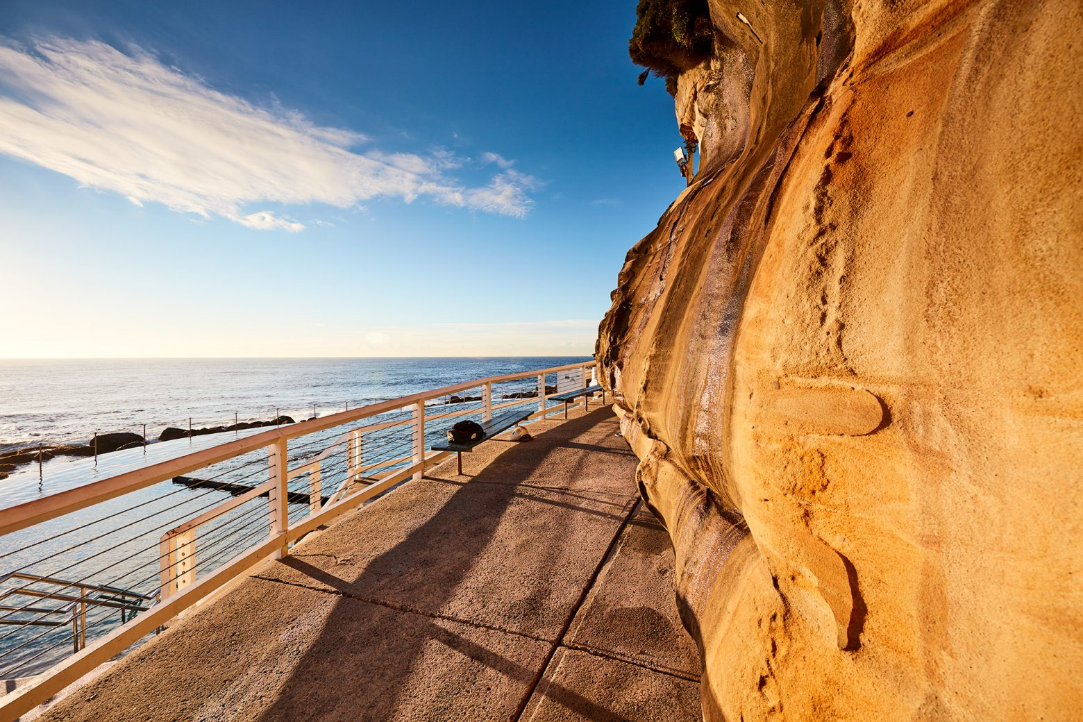 The warms hues bounced off sandstone at Bronte