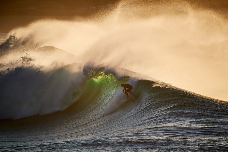 The most photographed human at Bondi, Chris Little taking a bomb