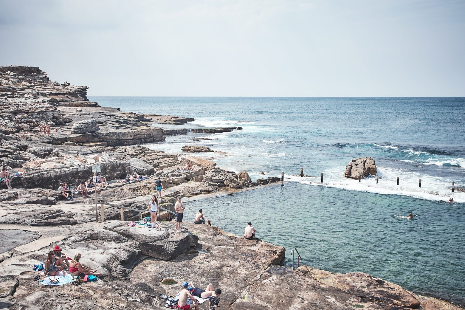 Mahon Pool, a rocky heaven on a summers day