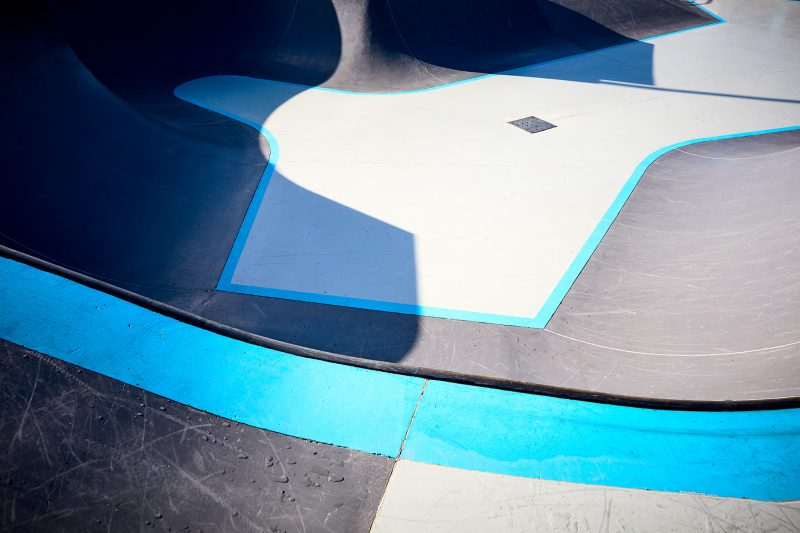 The Bondi Skatepark with a new coat of paint! Fancy.