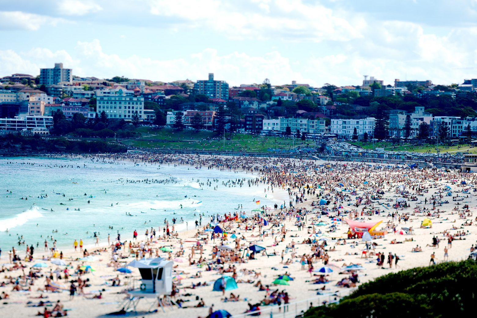 Yesterday, Bondi as a full house