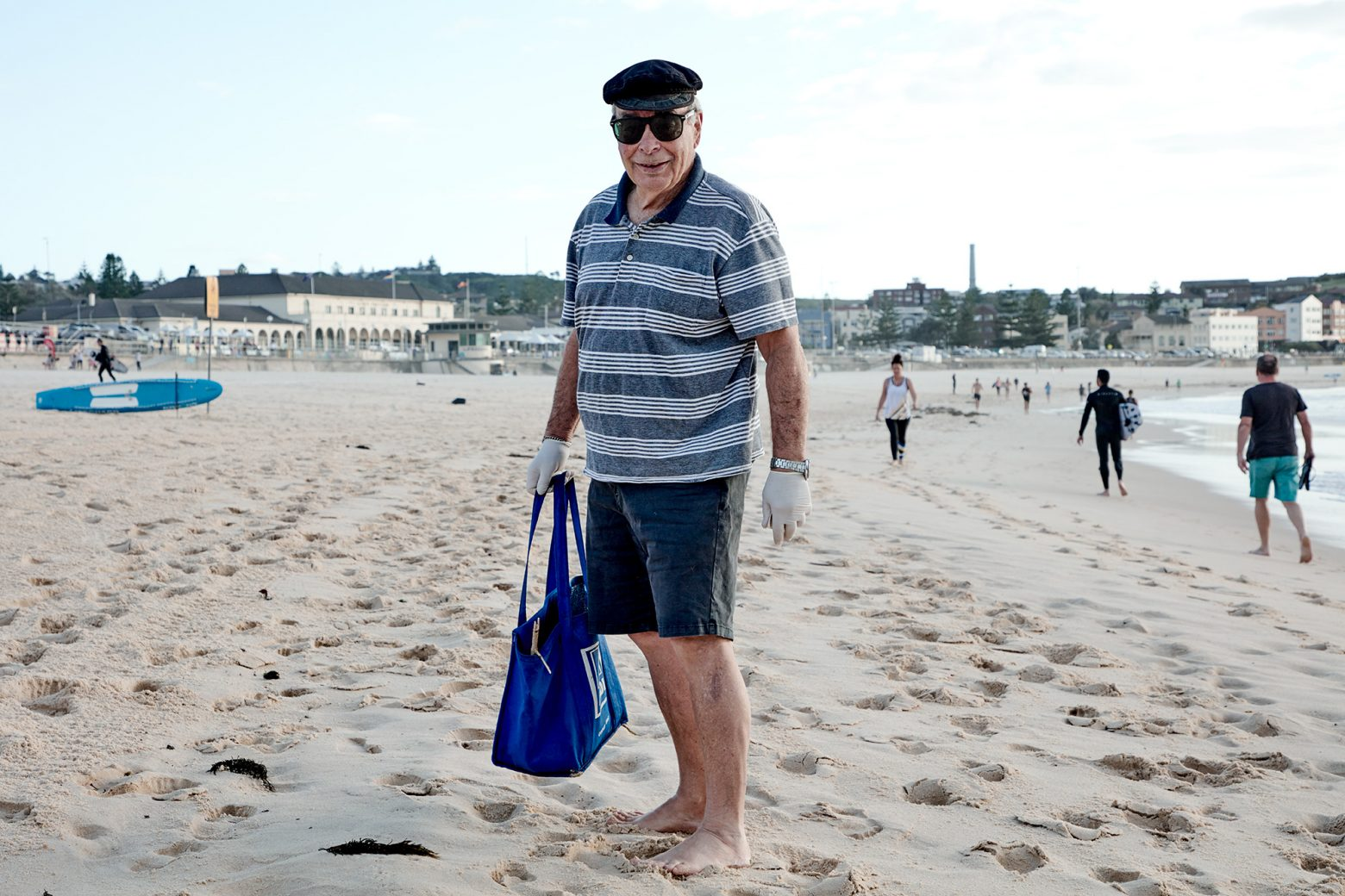 Our very own beach guardian, Cedric Amoils (80) cleaning up after the slobs