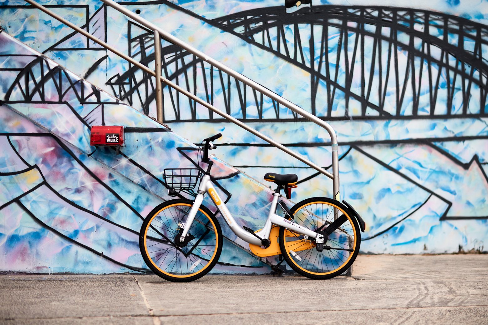 The Sydney Harbour Bridge and, yes, an O Bike