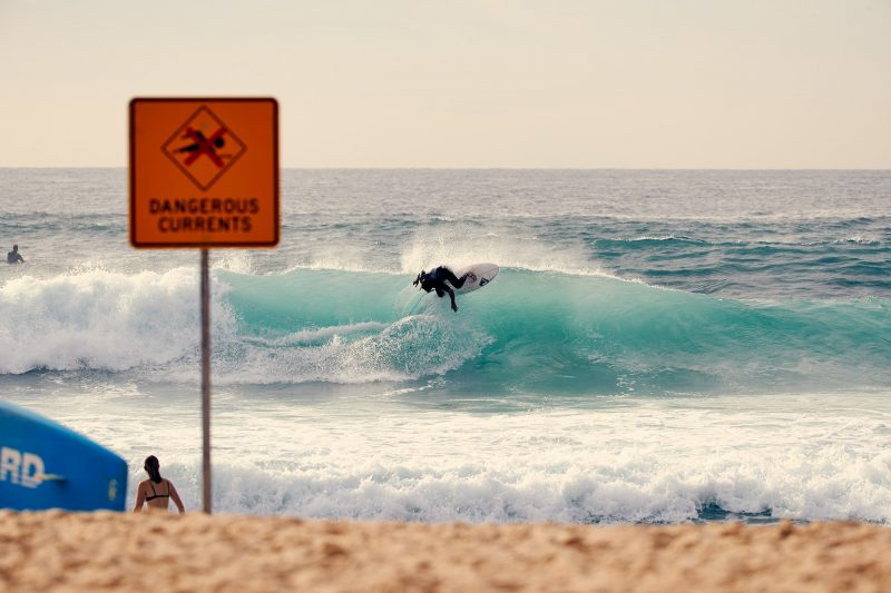 Beau Walker ripping the lip off a South Bondi bowl