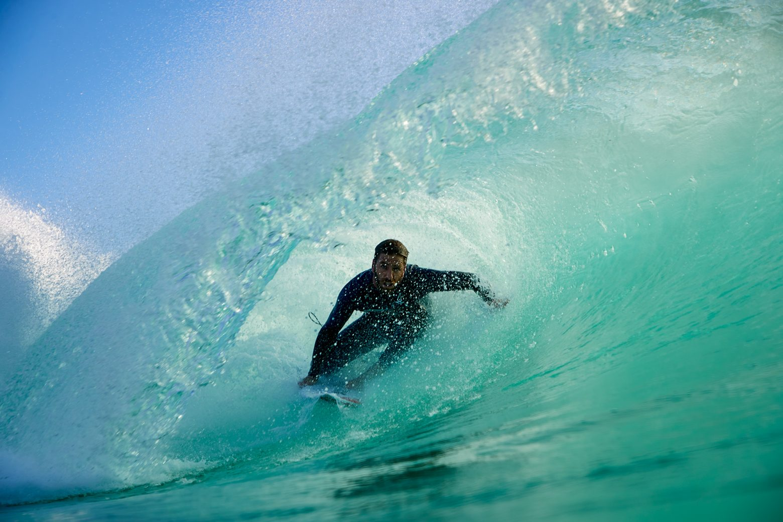 Back hand tubes are Blake's specialty