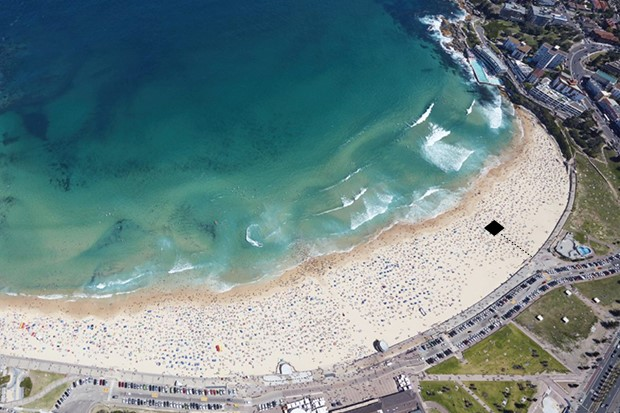 TCSS buried a board on Bondi Beach, dig it up and it's all yours (see location on image above)
