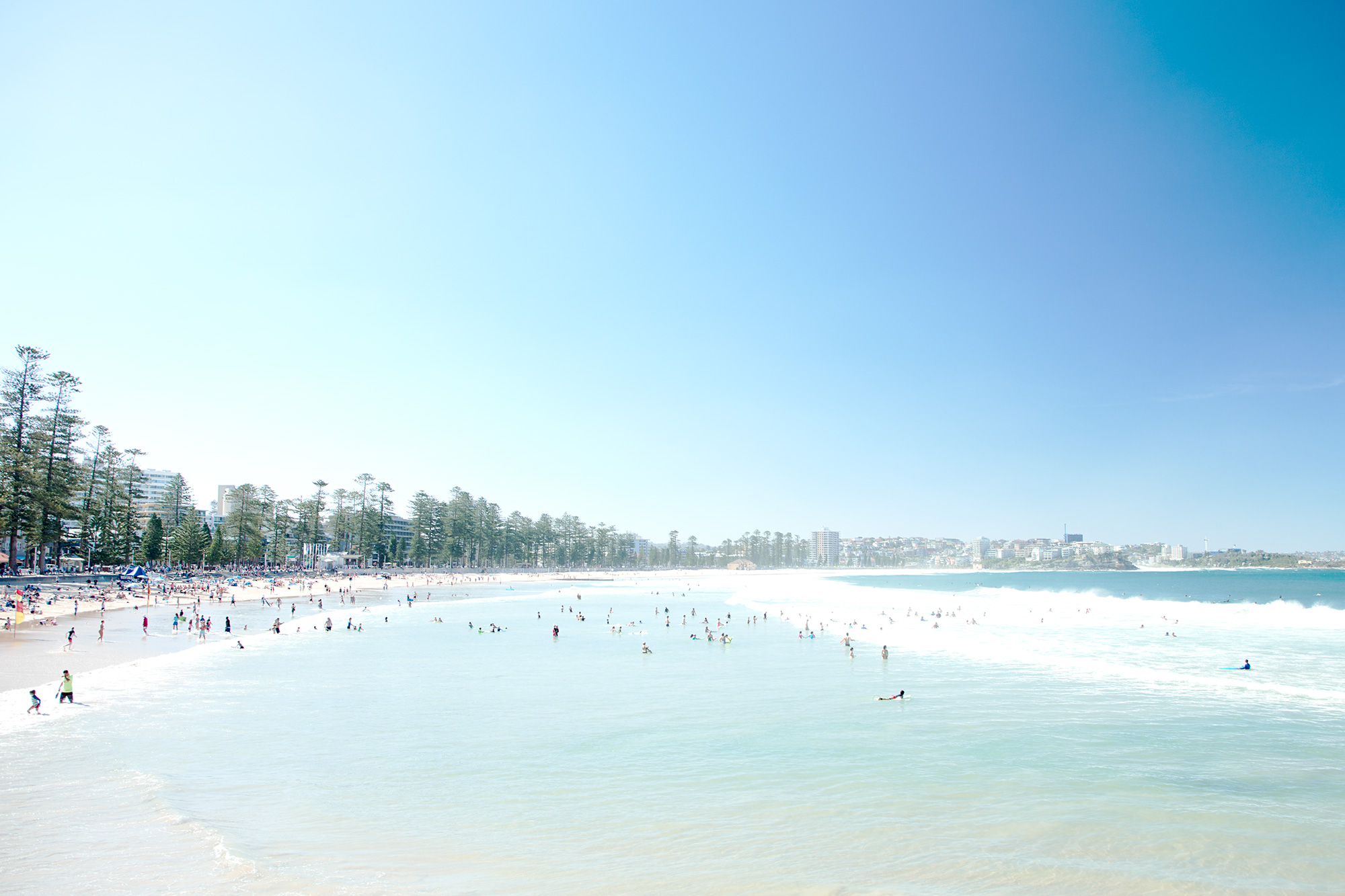 Manly, it's a bigger beach at 1.4 km long