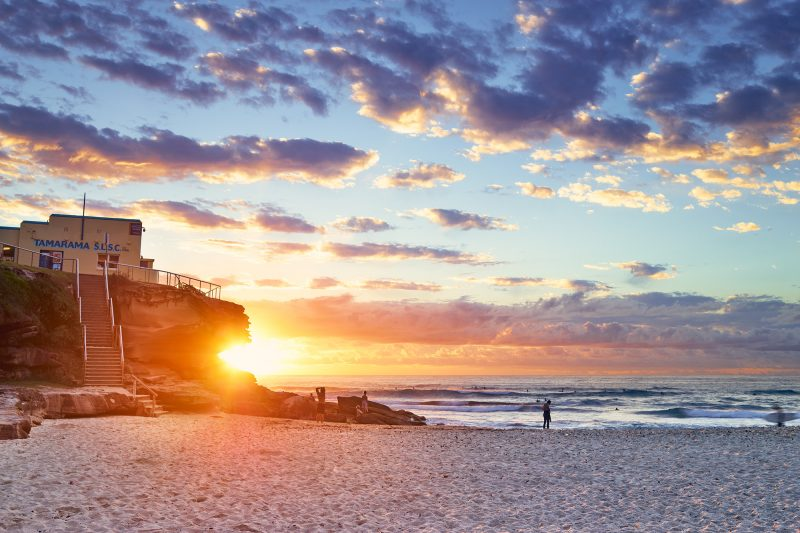 Tamarama 6:18am, sunrise