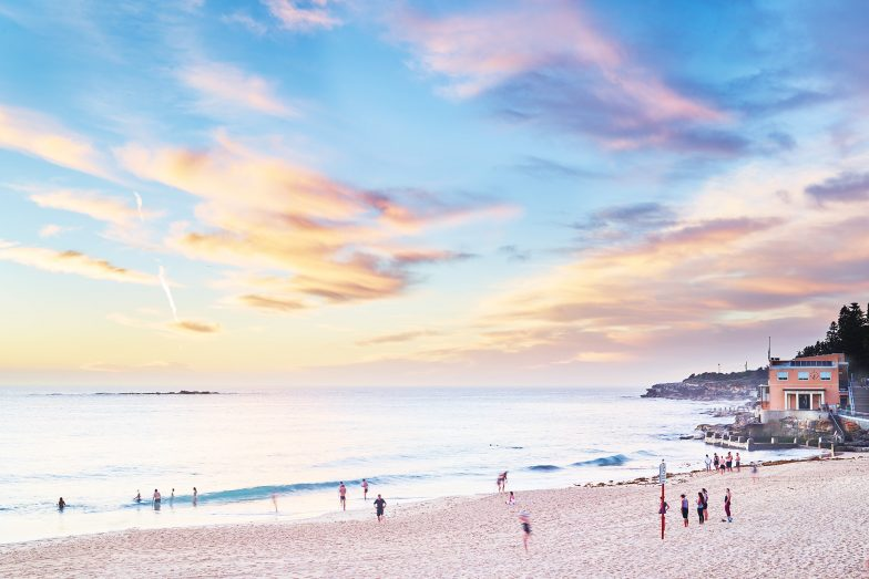Coogee Beach pastels, 6:15am this morning