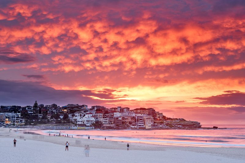 Bang! The absolute peak of colour this morning at Bondi