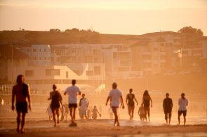 Lush golden light in front of North Bondi SLSC