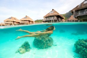 At Moorea be prepared to swim around 6-7 hours a day
