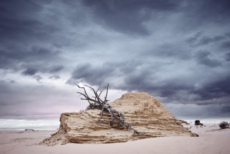 Mungo National Park. An ancient dried up lake