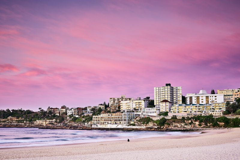 South Bondi dressed up in pinks this morning