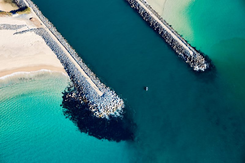 Lone Fisherman at the heads of Forster-Tuncurry