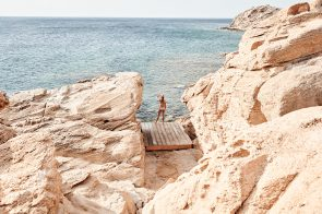 Mykonos is one huge chunk of brown rock, I love it.