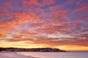 Quite an intense sunrise this morning down at Bondi