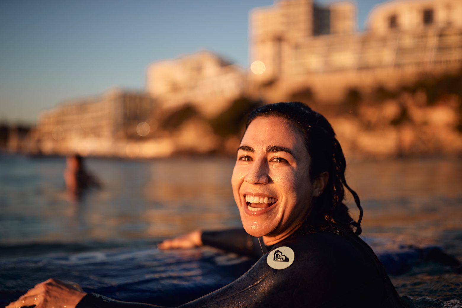 A very happy Silvanie - sorry, I missed your surfing shot (out of focus)