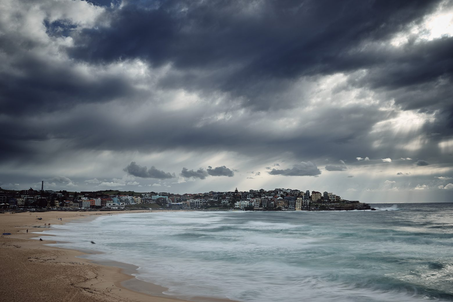 The Bondi Bay with cloud cover