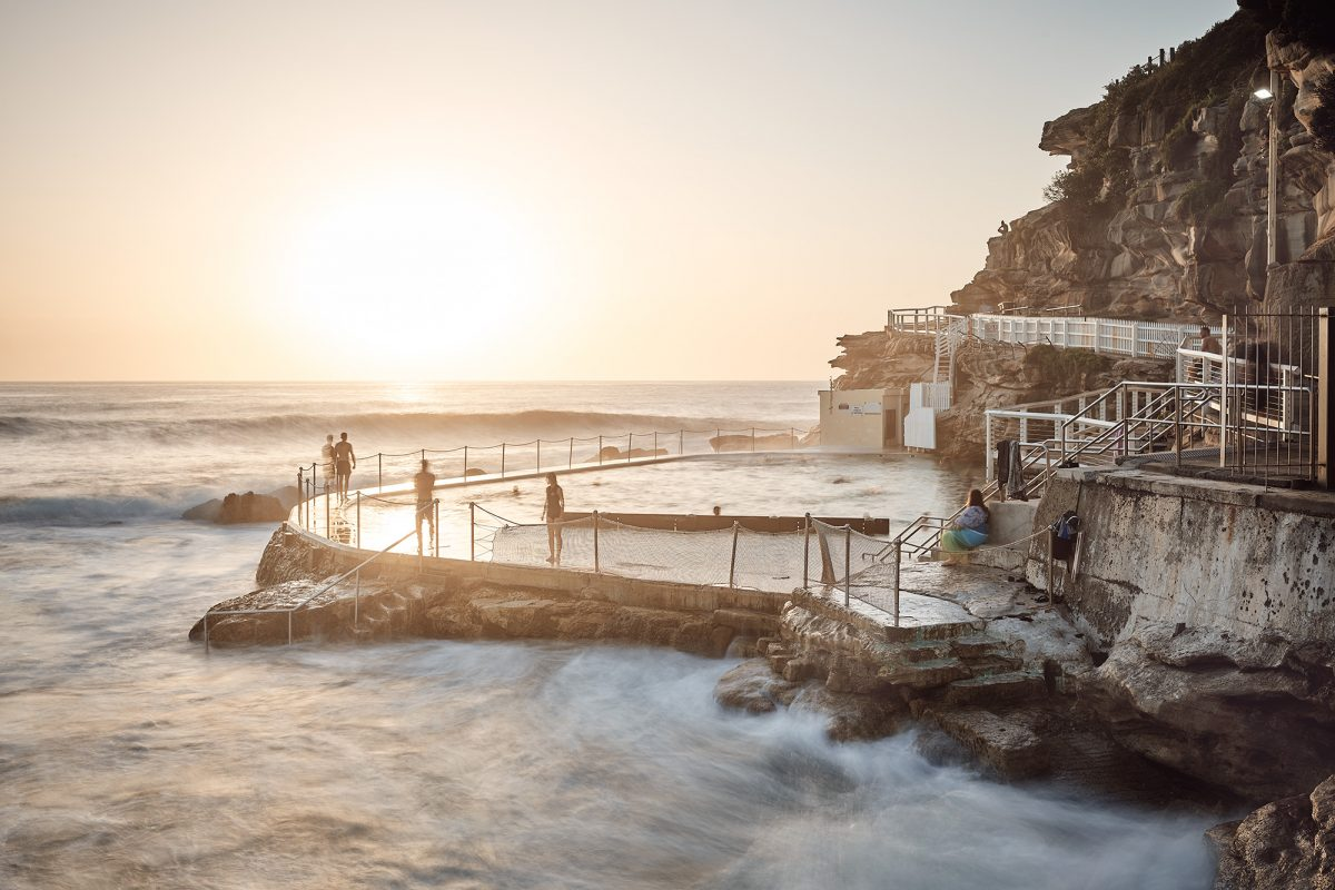 Bronte Pool, a magnet for early-birds