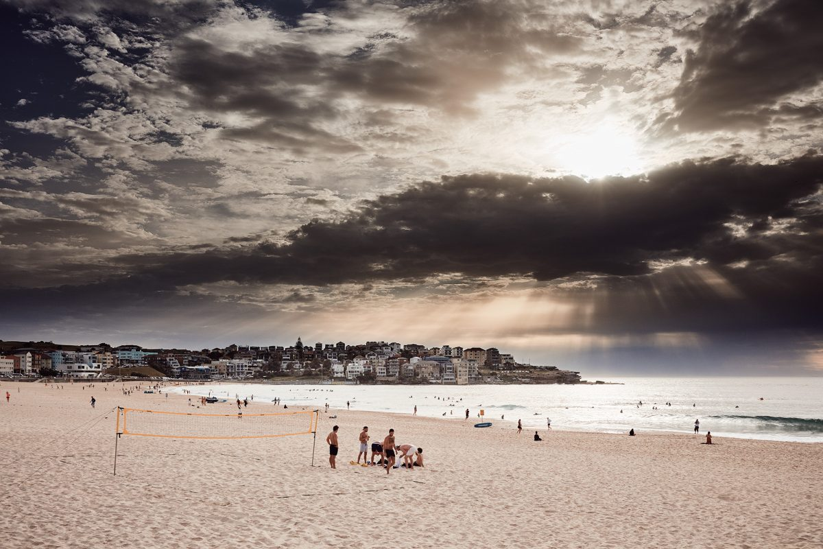 Unusual clouds and light this morning at Bondi Beach