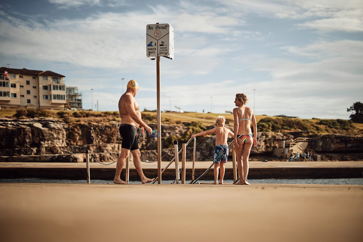 Family swim, Clovelly