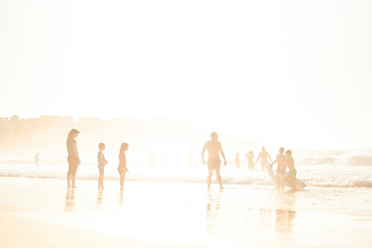 Mist and golden light - blown out at North Bondi this morning