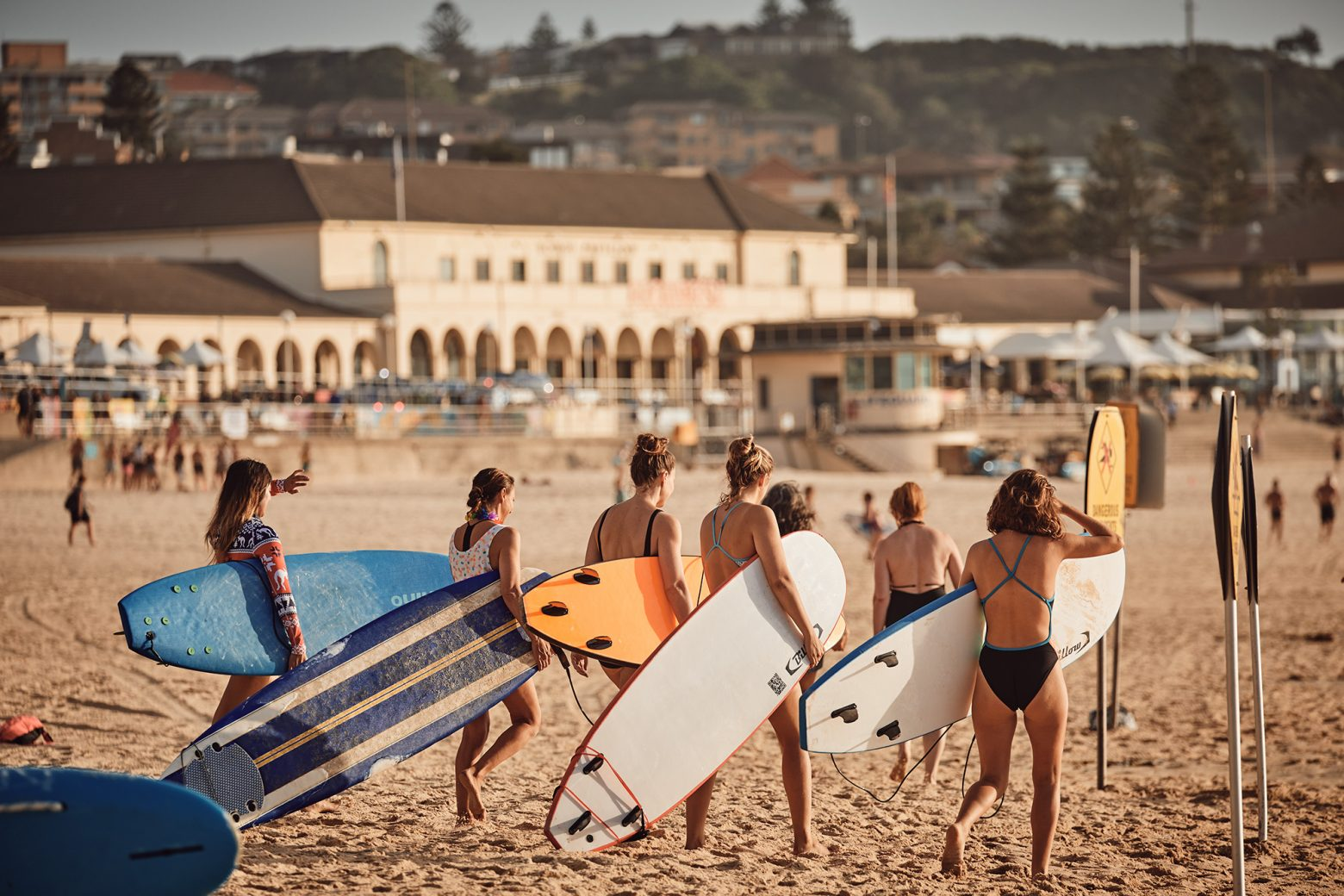 So many girls surf Bondi, it's awesome