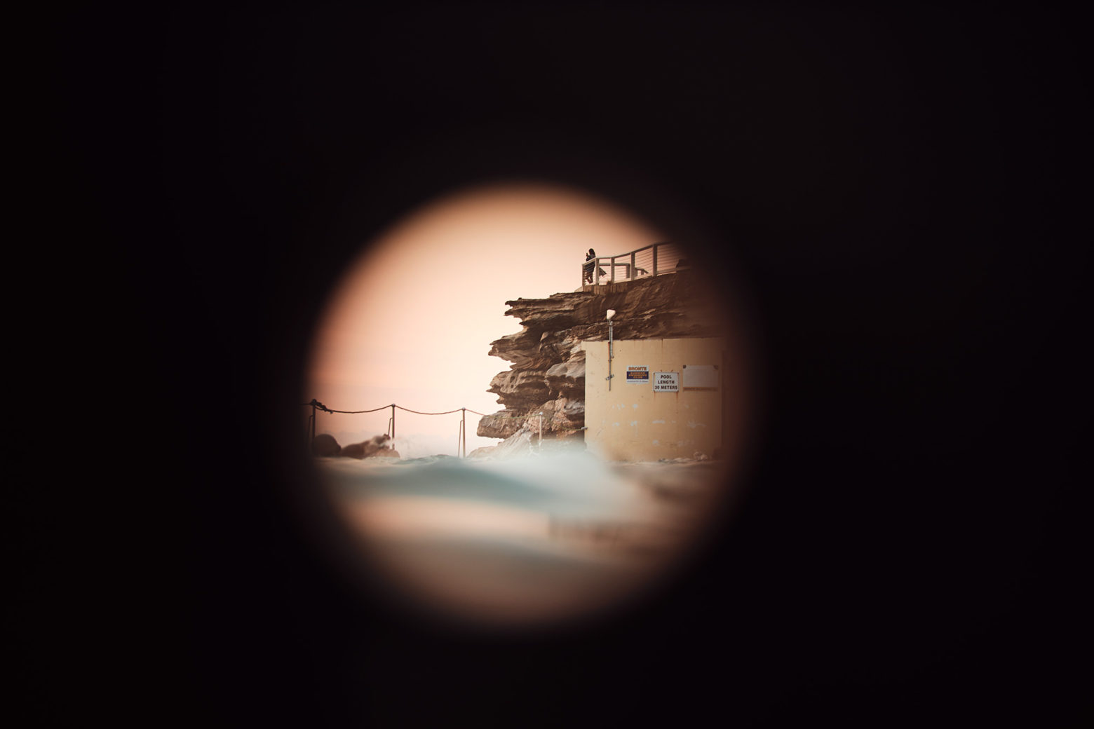 Looking through a hole, at Bronte