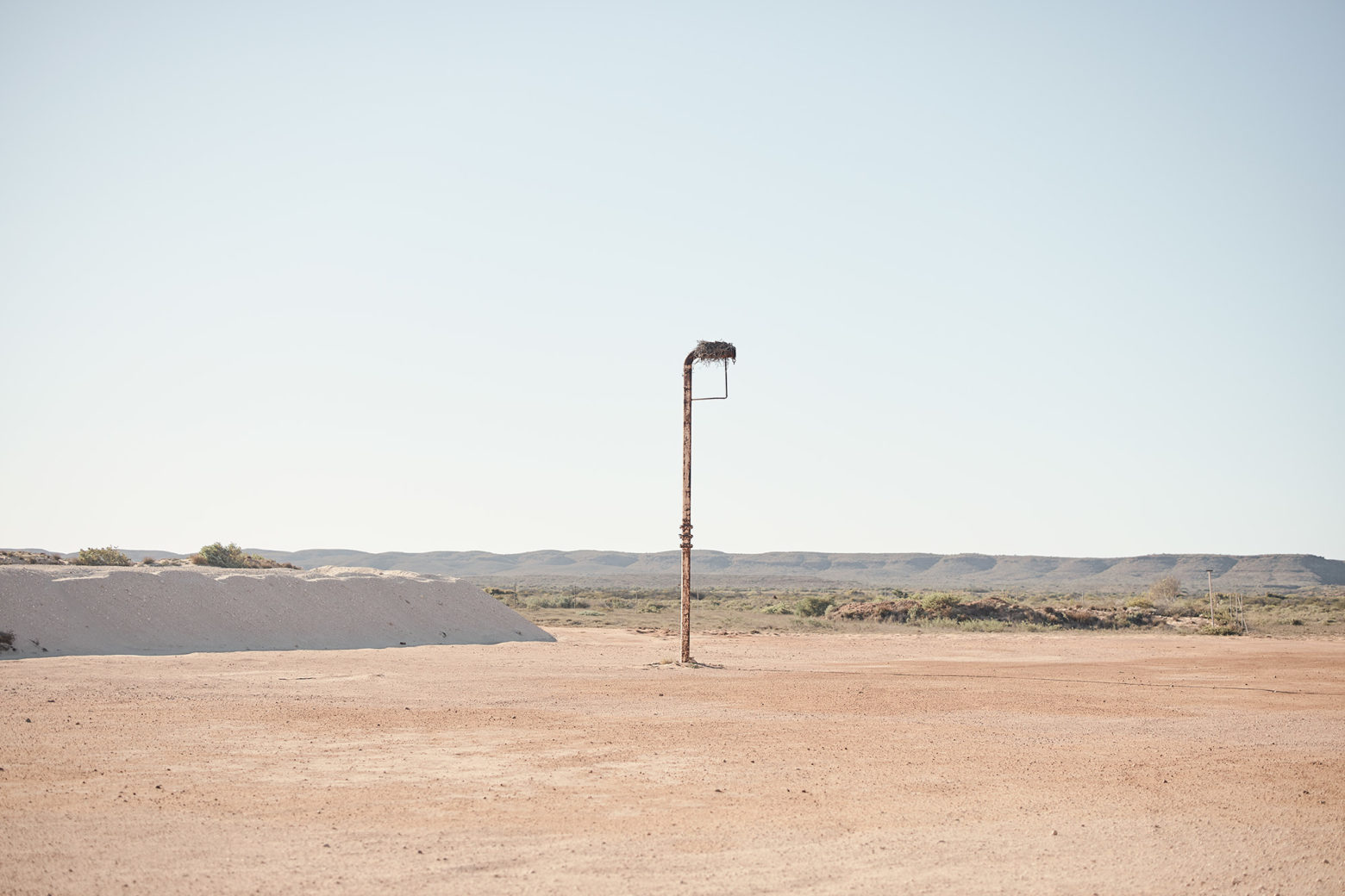 Just an empty carpark with a eagles nest, Ningaloo