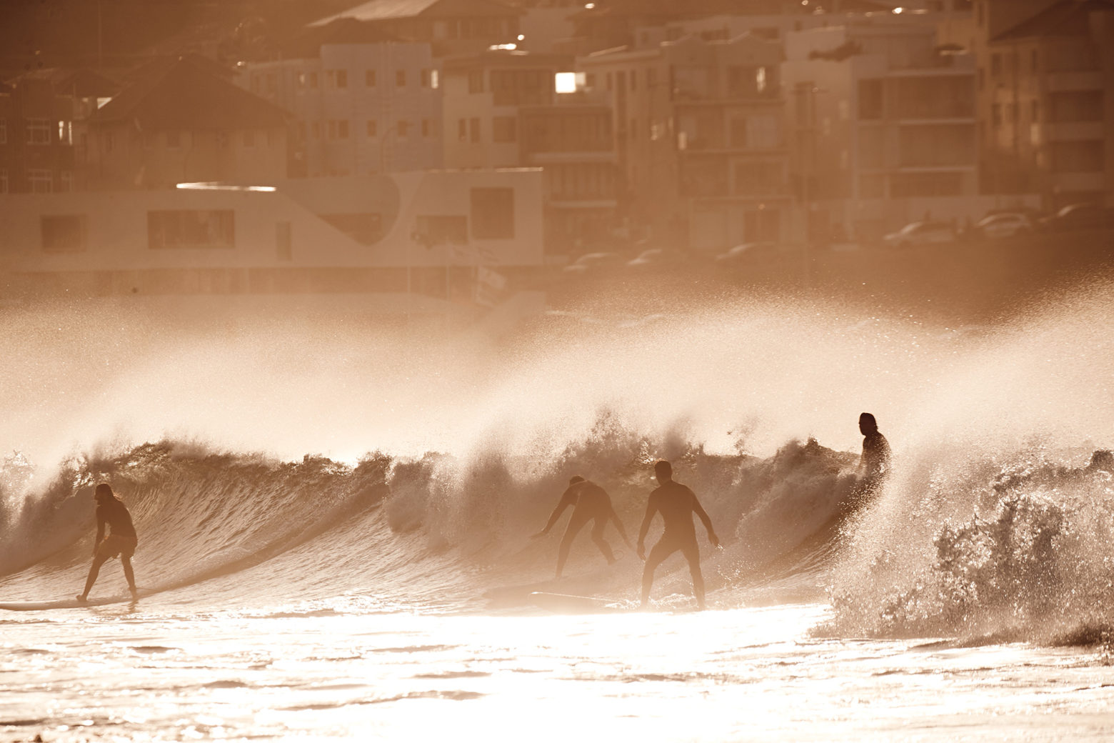 Sharing is caring, well, in the middle of Bondi it is...