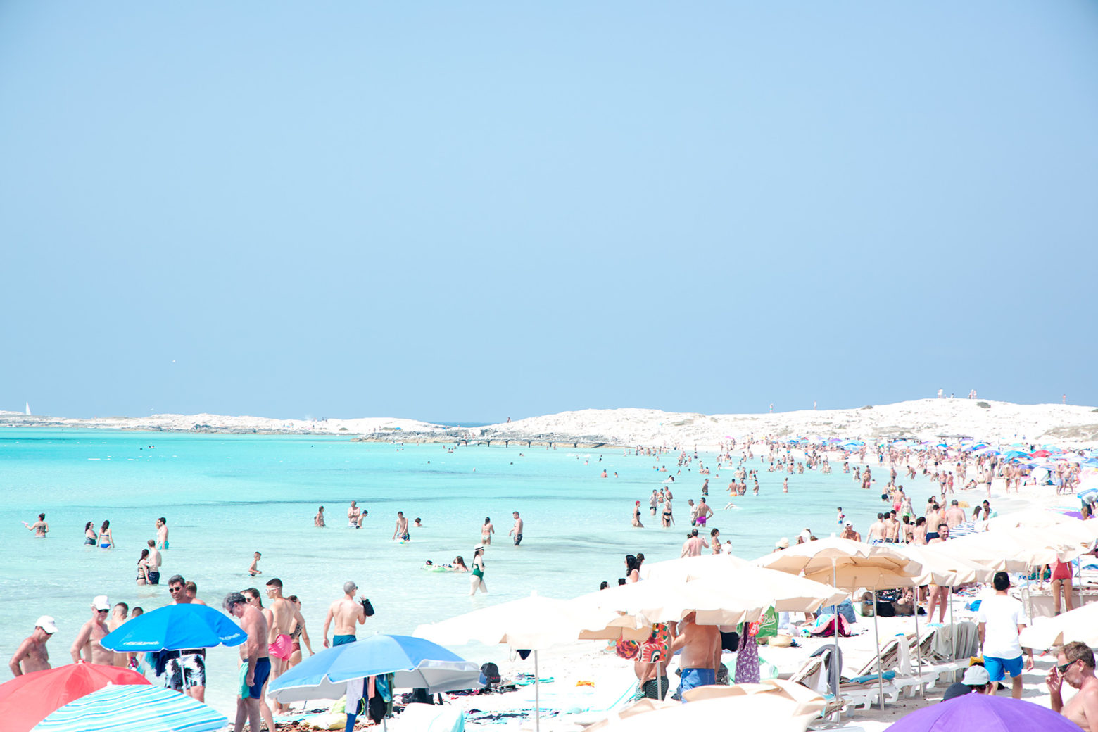 Illetes beach of Formentera (one of the most beautiful in the Mediterranean),