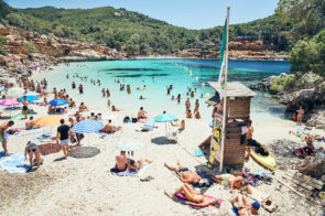 One of our favourite beaches, Cala Saladeta, Ibiza
