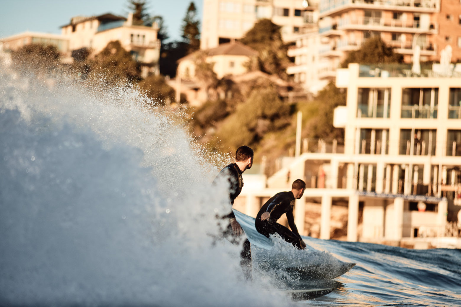 Getting a wave to yourself at Bondi isn't easy these days