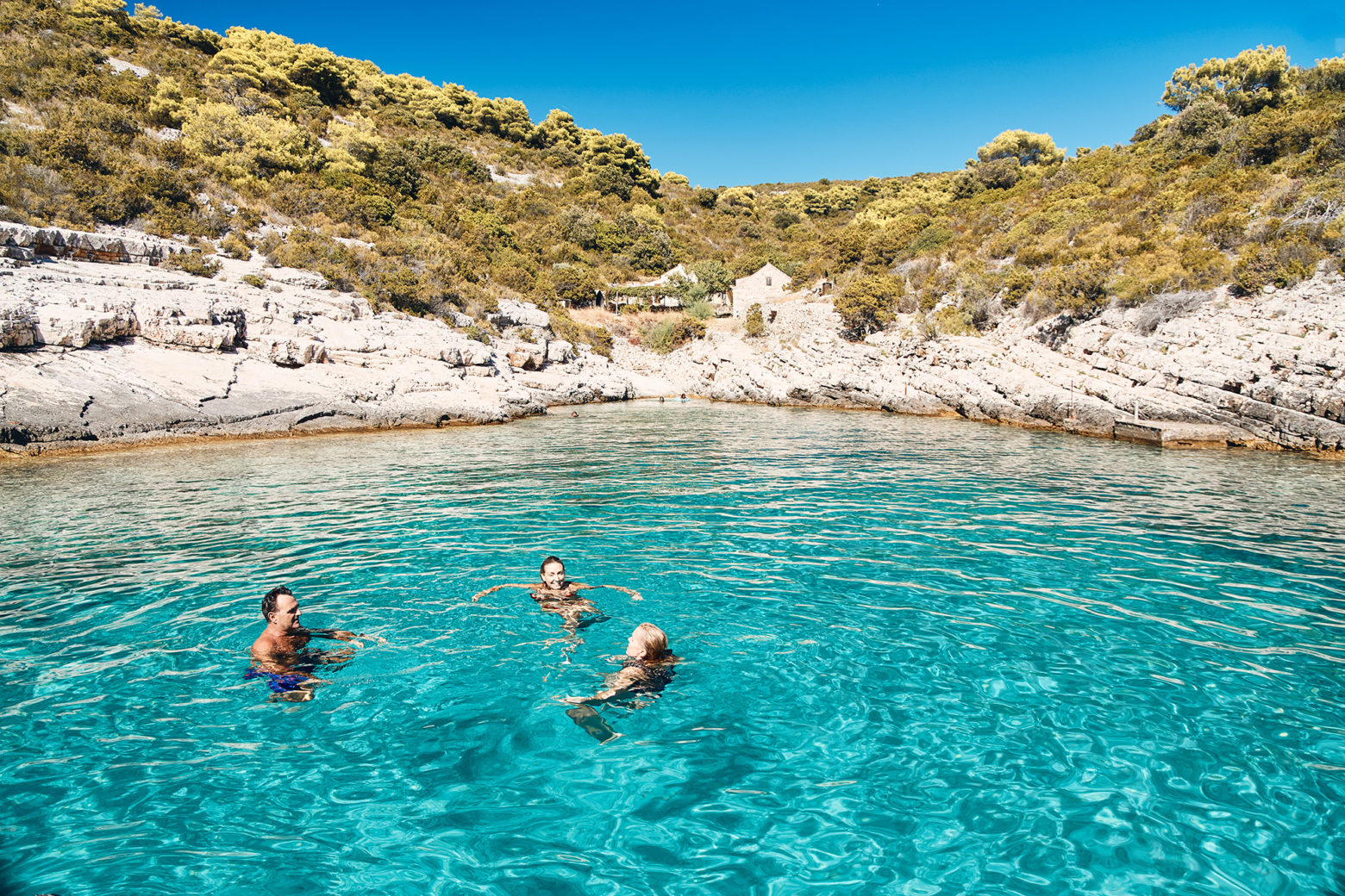 The water in Croatia is mind-blowing. Paul Williams, BB, Ness Rowe