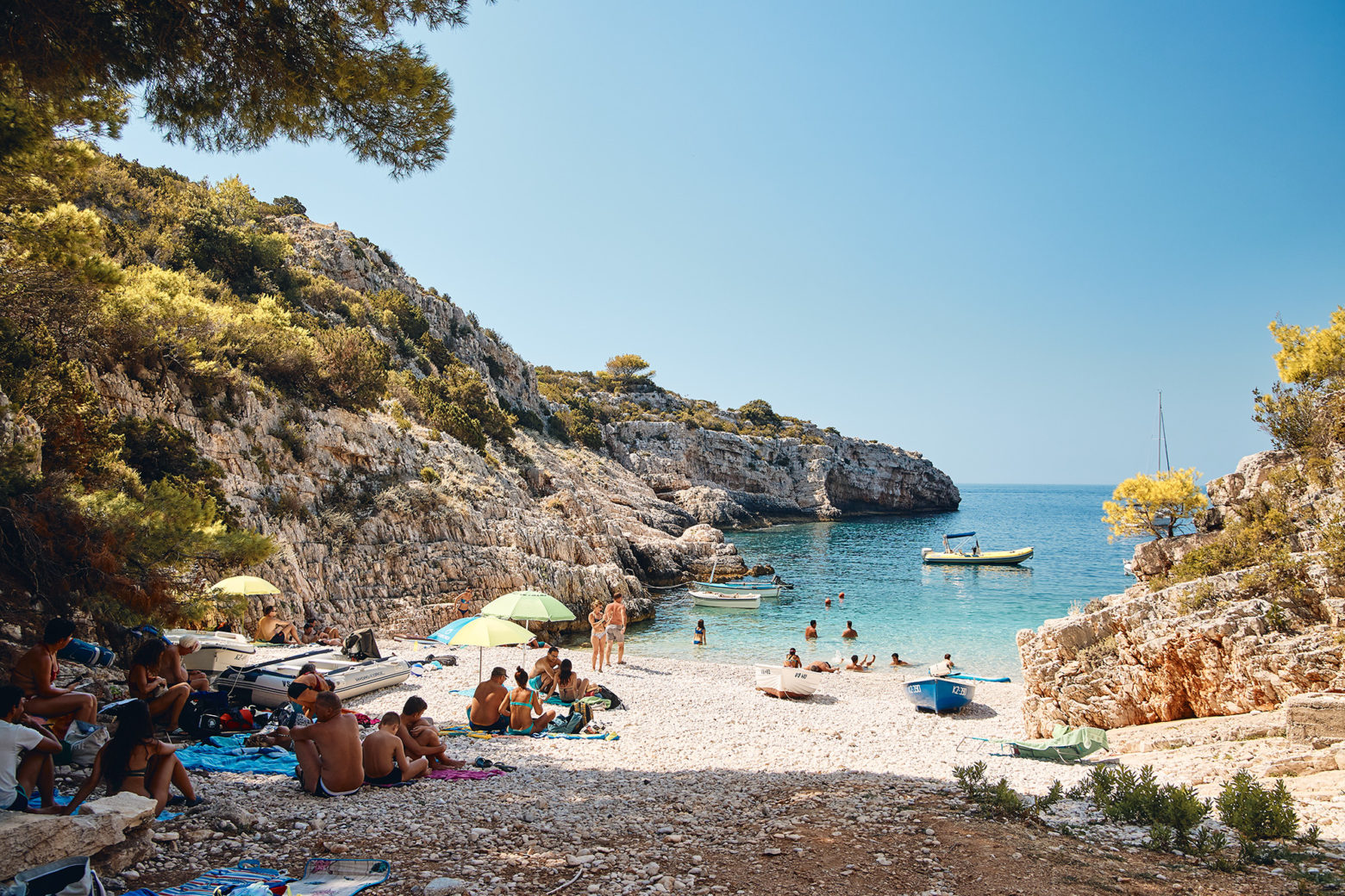 Small beach on the island of Vis