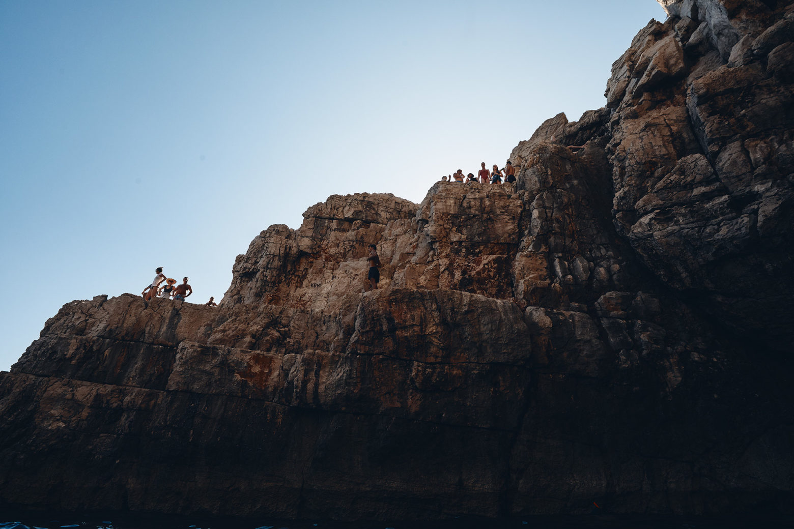 They jump off those cliffs - Croatia