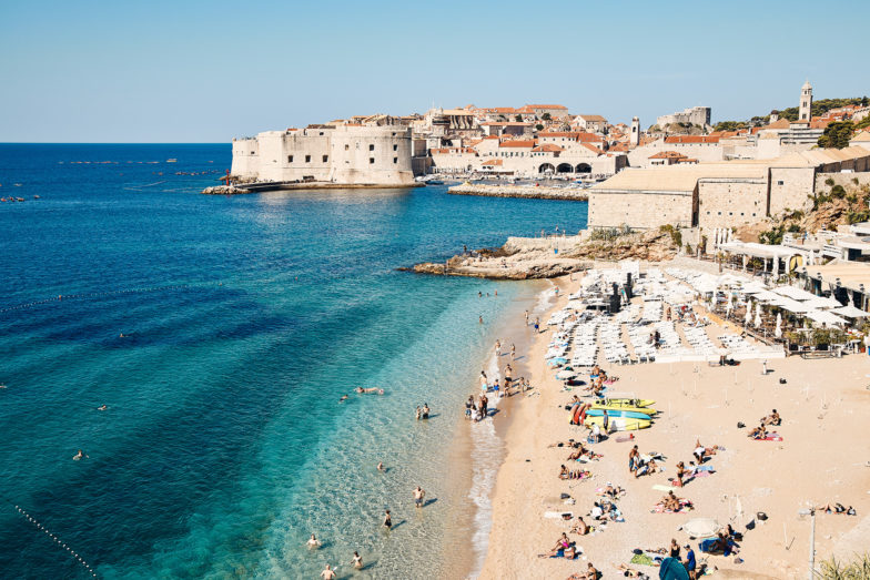 Like all the beaches in Croatia, the water is crystal blue