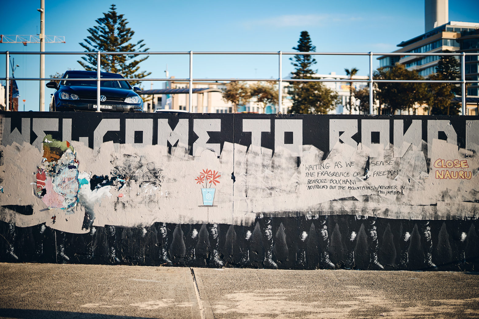 The very controversial wall mural at Bondi