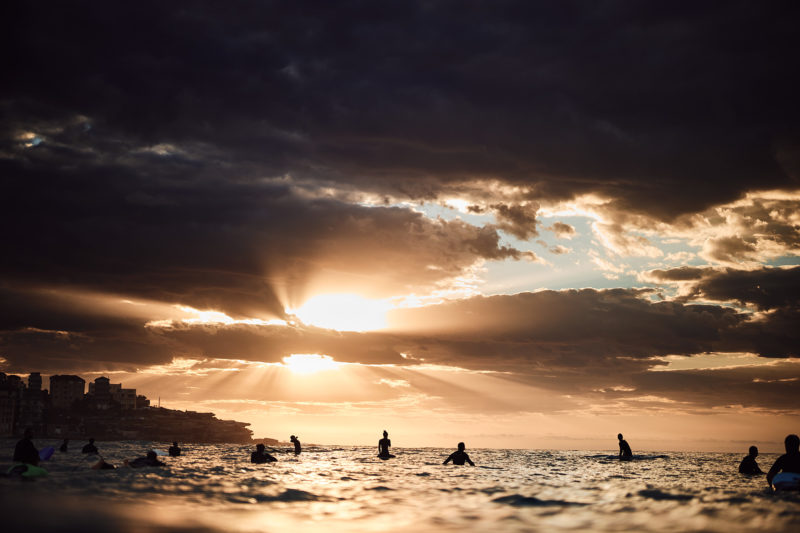 Morning glory! Bondi Beach at sunrise today