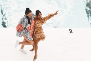 Celeste Barber + Jessica Mauboy, celebrating 60 years of Vogue at Icebergs this morning