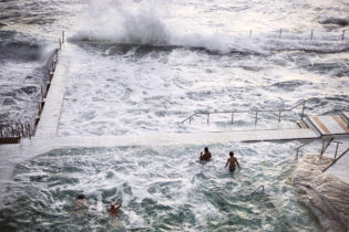 Winters coming, big swells soon pounding the pool