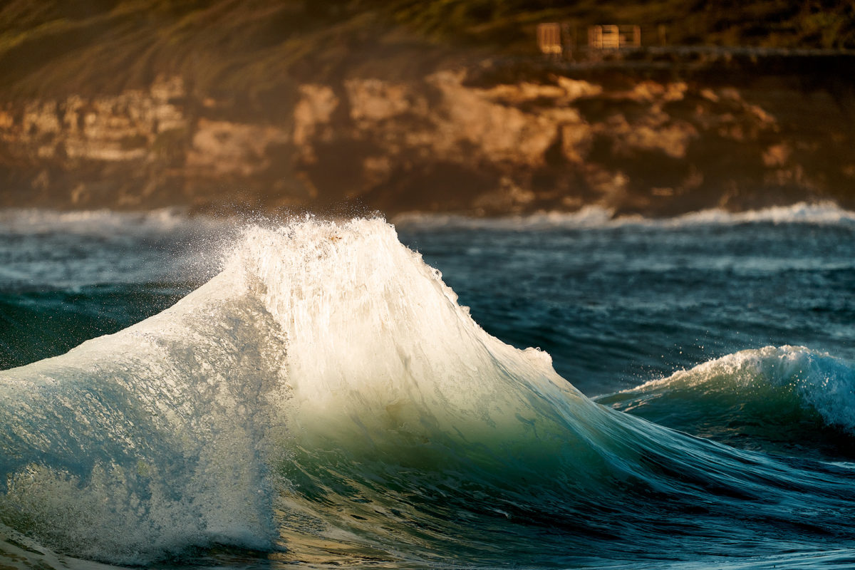 Maroubra, lucky timing with the backwash and light