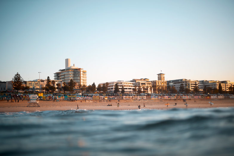 Bondi at sunrise during COVID19 - a very busy place!